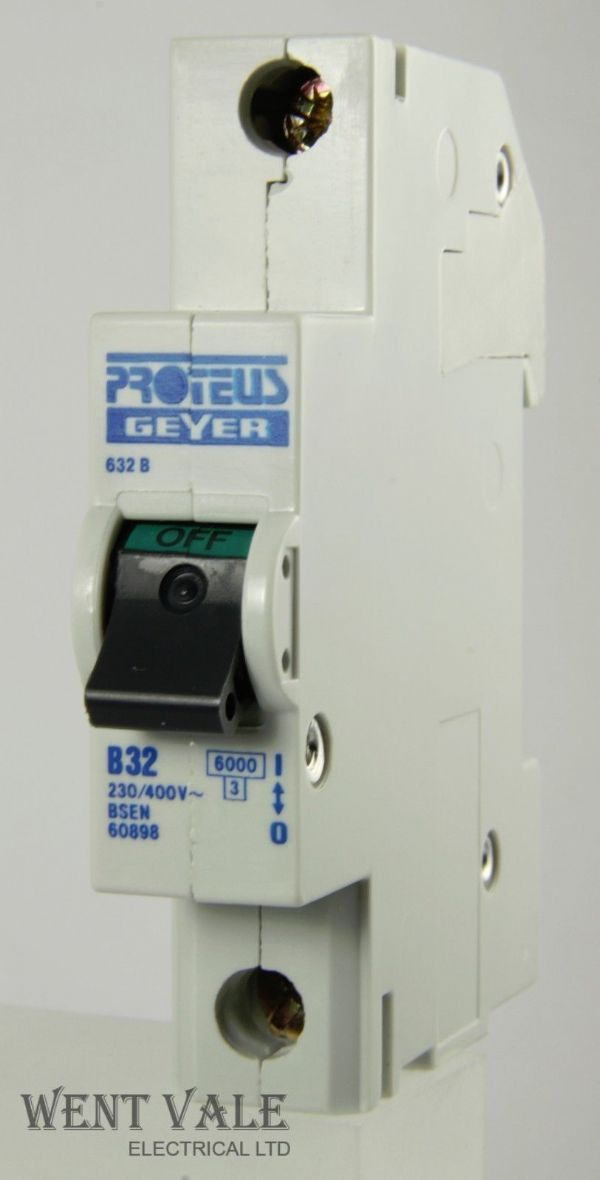 Proteus Geyer - 632B - 32a Type B Single Pole MCB